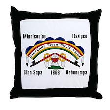 Cheyenne River Sioux Flag Throw Pillow