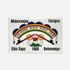 Cheyenne River Sioux Flag Rectangle Magnet