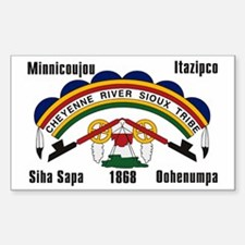 Cheyenne River Sioux Flag Rectangle Decal