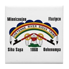 Cheyenne River Sioux Flag Tile Coaster