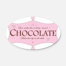 ChocolateWorld Oval Car Magnet
