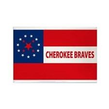 Cherokee Braves Flag Rectangle Magnet