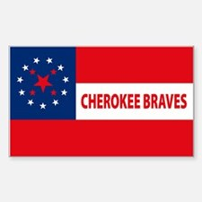 Cherokee Braves Flag Rectangle Decal