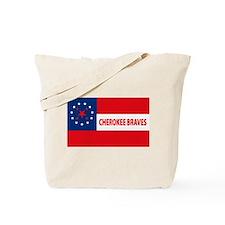 Cherokee Braves Flag Tote Bag