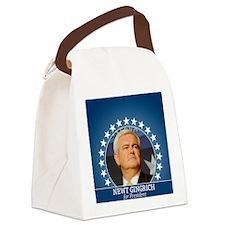 button_newt_photo_04 Canvas Lunch Bag