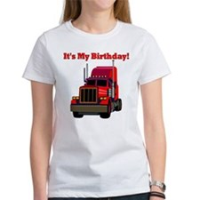 Semi Truck Birthday Tee