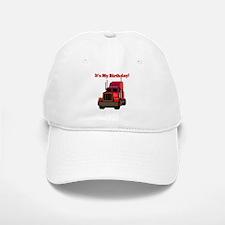 Semi Truck Birthday Baseball Baseball Cap