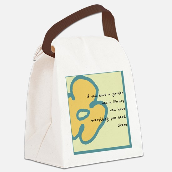 If you have a garden Canvas Lunch Bag