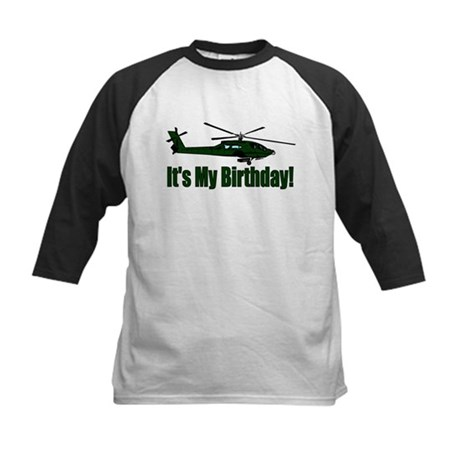 Army Helicopter Birthday Kids Baseball Jersey