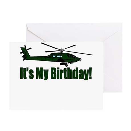 Army Helicopter Birthday Party Invitations (Pkg o