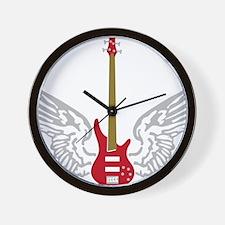 Bass Guitar 07-2011 B 3c Wall Clock