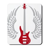 Bass player Mouse Pads