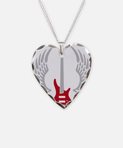 Bass Guitar 07-2011 A 2c Necklace Heart Charm