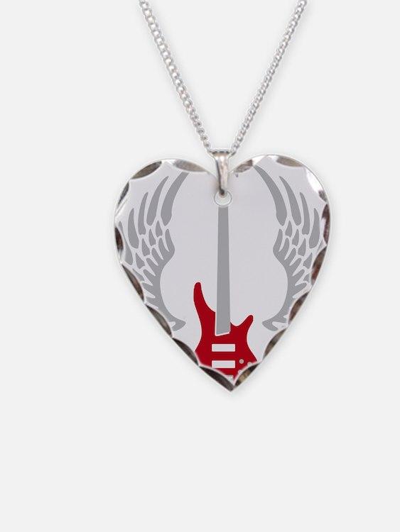Bass Guitar 07-2011 A 2c Necklace Heart Charm