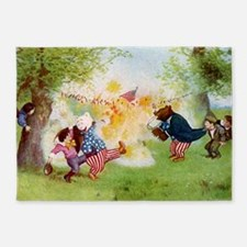 roosevelt bears firecrackers_Finalx 5'x7'Area Rug