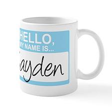 HelloMyNameIs...Cayden Mug