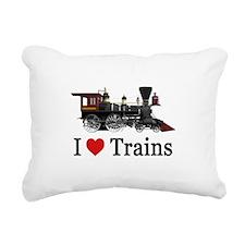 I LOVE TRAINS_SM_copy Rectangular Canvas Pillow