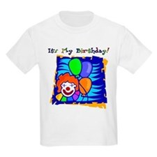 Age 7 Bright Clown Birthday Kids T-Shirt