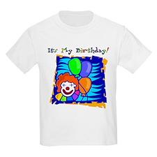 Age 10 Bright Clown Birthday Kids T-Shirt