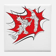 10x10_epee_Splash1-Wht Tile Coaster