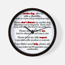 Service Dog Etiquette Wall Clock