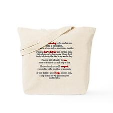 Service Dog Etiquette Tote Bag