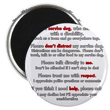 Service Dog Etiquette Magnet