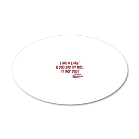 cindy-lady 20x12 Oval Wall Decal
