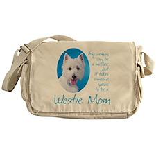 Westie Mom Messenger Bag