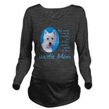 Westie Mom Long Sleeve Maternity T-Shirt