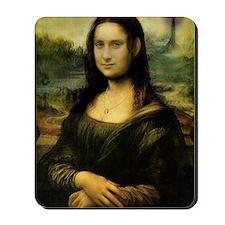Cafe Press Mona Lisa with mordor on righ Mousepad