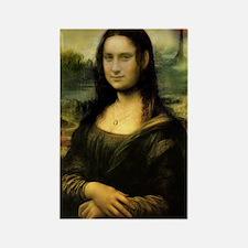 Cafe Press Mona Lisa with mordor  Rectangle Magnet