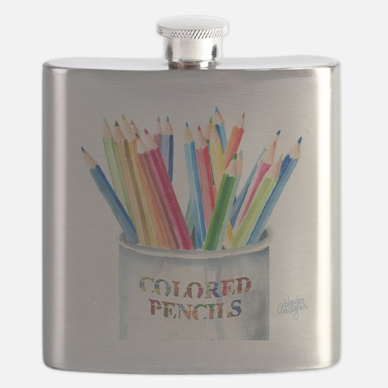 Colored Pencils Flask