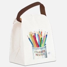Colored Pencils Canvas Lunch Bag