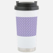 Trendy Purple Butterflies Travel Mug