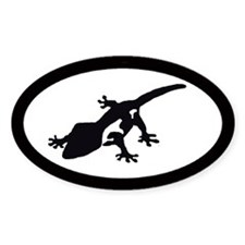 Crested Gecko Oval Decal