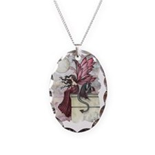 Restless ruby Necklace Oval Charm