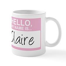 HelloMyNameIs...Claire Small Small Mug