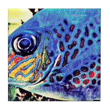 fish art Tile Coaster