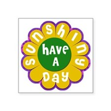 "Brady Bunch Sunshine Day Square Sticker 3"" x 3"""