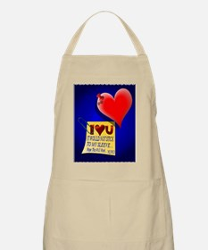 Valentine Heart and Love Note PosterP Apron