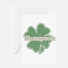 """""""Shamrock - Thompson"""" Greeting Cards (Pk of 10"""