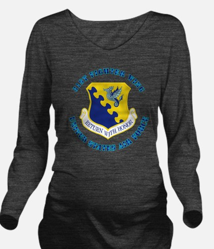 31st-Fighter-Wingwit Long Sleeve Maternity T-Shirt
