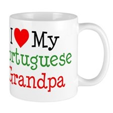 I Love Portuguese Grandpa Mug