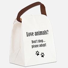 Dont shop...please adopt_no logo Canvas Lunch Bag