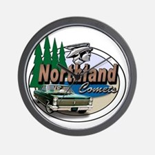 Oval-Northland-Comets-Logo Wall Clock