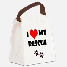 I (heart) my rescue_no logo Canvas Lunch Bag