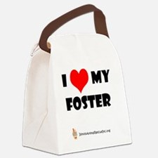 I (heart) my foster Canvas Lunch Bag
