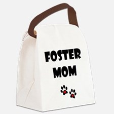 Foster Mom_paw_no logo Canvas Lunch Bag