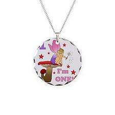 fairy1Mushroom Necklace Circle Charm